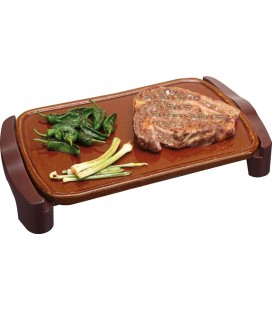 PLANCHA ASAR JATA ELECTRICA GR559 M MAGIC 46X28CM TERRACOTA